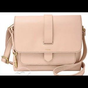 Fossil Kinley Small Leather CrossBody Bag Pink